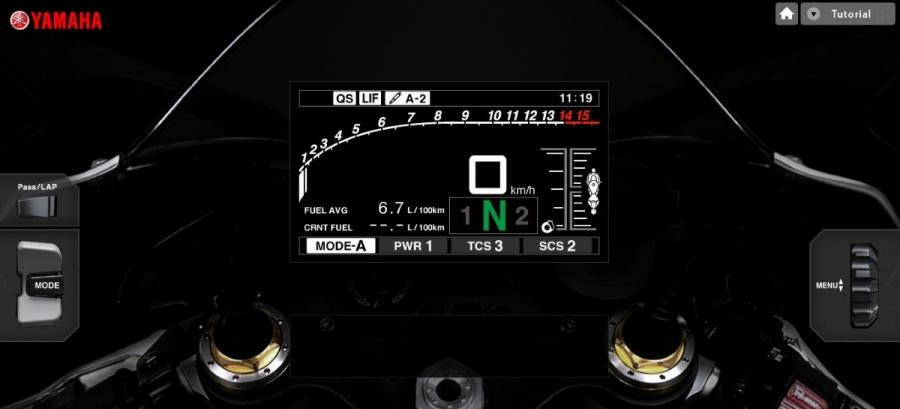 2015 Yamaha R1 dashboard simulator